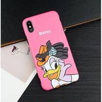 輸入雑貨 ディズニー 仲間たち  ケータイカバー  iphone X 最大種類 iphone 8 7 6 6 s-plus パーティー デイジー