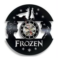 輸入雑貨 アナと雪の女王 30cm レコード盤 壁掛け時計 アニメ 映画 人気  インテリア ディスプレイ 2