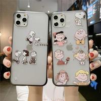 輸入雑貨 スヌーピー snoopy iphone 11 Pro MAX 最大種類 iphone 8 7 6 6 s-plus モノクロCute