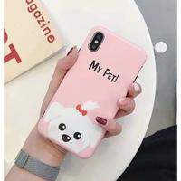 輸入雑貨 Myペット Dog  犬 ケータイカバー iphone XR XsMAX 最大種類 iphone 8 7 6 6 s-plus ピンク