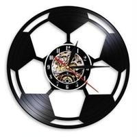 輸入雑貨 サッカー チーム 壁アート ヴィンテージ 30cm レコード盤 壁掛け時計 アニメ 映画 人気  インテリア ディスプレイ 6種類展開 4