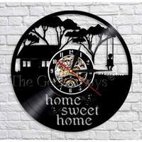 輸入雑貨 SWEET HOME 壁アート ヴィンテージ 30cm レコード盤 壁掛け時計 人気  インテリア ディスプレイ 3種類展開 2