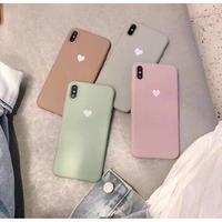 大人スモークキャンディーカラー♡ シンプル ハート ♡  iphone XR ケース 最大種類 iphone 8 7 6 6 s-plus スマホケース  4colors