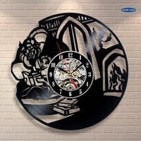 輸入雑貨 美女と野獣 30cm レコード盤 壁掛け時計 アニメ 映画 人気  インテリア ディスプレイ 5種類展開 8