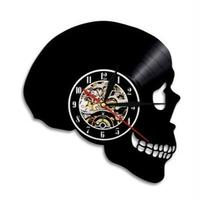 輸入輸入 ドクロ Ⅰ♡music 掛け時計 壁アート ヴィンテージ 30cm レコード盤 人気 インテリア GIT-0549 ディスプレイ  25