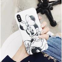 輸入雑貨 ミッキー ミニー ディズニー iphone 11 Pro MAX 最大種類 iphone 8 7 6 6 s-plus カップル ミニーC