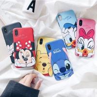 輸入雑貨 ディズニー 仲間たち ケータイカバー  iphone XR XsMAX 最大種類 iphone 8 7 6 6 s-plus Kiss