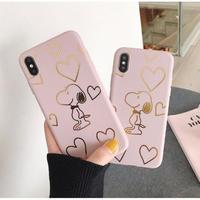 輸入雑貨 ゴールドハート スヌーピー snoopy iphone 11 Pro MAX 最大種類 iphone 8 7 6 6 s-plus