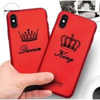 輸入雑貨 シンプル KING & QUEEN  iphone XR ケース 最大種類 iphone 8 7 6 6 s-plus スマホケース  ティアラ4