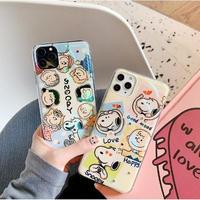 輸入雑貨 スヌーピー snoopy iphone 11 Pro MAX 最大種類 iphone 8 7 7-plus チャーリーブラウン ♡仲間たち2