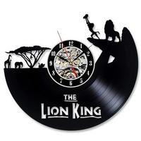 輸入雑貨 ライオンキング 30cm レコード盤 壁掛け時計 アニメ 映画 人気  インテリア ディスプレイ 2種類展開 2