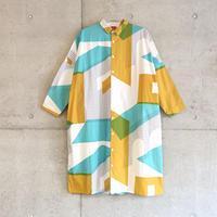 【スクエアシャツワンピース】フルイマチ(b)(sizeF)