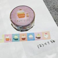 かき氷 マスキングテープ  (えいこちゃんイラスト)