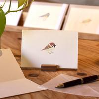 小鳥のカード「スズメ 」