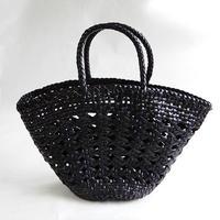【hinthint】  ヒントヒント 牛革編み メッシュトートバッグ  ◆  透かし編みが上品でしなやかなレザーを使用