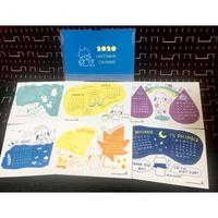 オリジナル卓上カレンダー「2020 NEKOKABURI カレンダー」