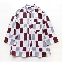 【晒シャツ】レディース向け七分袖 ようかん格子