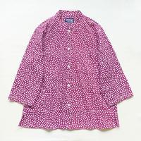【晒シャツ】レディース向け七分袖 あられ 紫 Sサイズ
