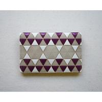 【文庫革】カードケース 亀甲鱗  葡萄