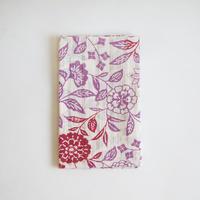 浴衣地てぬぐい 彩り花更紗 紫