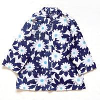 【晒シャツ】レディース向け七分袖 ひなぎく  紺