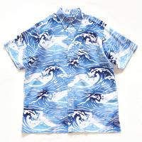 【晒シャツ】メンズ向け半袖 波に富士