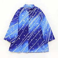 【晒シャツ】レディース向け七分袖 満ち引き縞