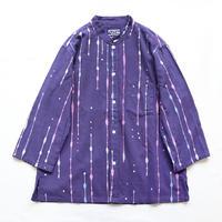 【晒シャツ】レディース向け七分袖 雫縞 紺 Sサイズ