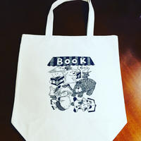 町の本屋さんのトートバッグ 白×黒