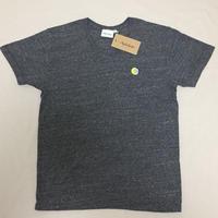 「月と6ペンス」Vネック刺繍Tシャツ トライブレンドグレー