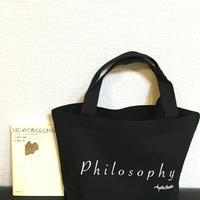 HELLO BOOKS ミニトートバッグ PHILOSOPHY 黒