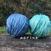 手染め麻糸/marine