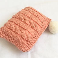 cable knit pouch