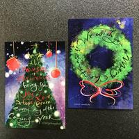 大人のクリスマスカード 2枚セット