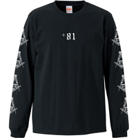 YAMATERAS / Country Code Long Sleeve T-Shirt 7.1 Oz  / Black
