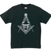YAMATERAS / 鳥居ロゴ Tシャツ 7.1oz スーパーヘヴィウェイト仕様 黒