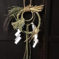 無肥料・無農薬 こだわりの稲わらを使った手作りしめ飾り  鶴と亀