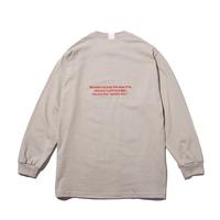 〈PAPERMIC〉BASIC L/S T-Shirt Beige