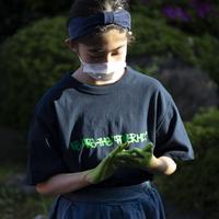 〈PAPERMIC〉CRASTY T-Shirt Navy