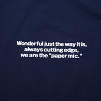 〈PAPERMIC〉BASIC L/S T-Shirt Navy