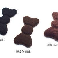 日本製 髪ピタ(KAMIPITA) リボン 毛面 3色