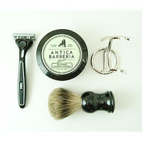 ANTICA with SCHICK QUATRO SPECIAL KIT(BLACK EDITION)  ヒゲブラシスタンド付き
