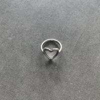 Silver Heart Line Ring