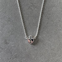 Silver Heart Key Necklace