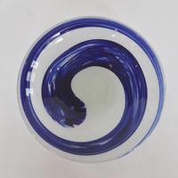 【再生ガラス工房てとてと】青墨台付皿