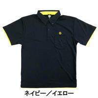 RUDIE'Sドライレイヤードボタンダウンポロシャツ【ネイビー/イエロー】