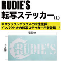 RUDIE'S転写ステッカー(L)