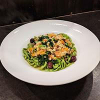 金沢港真鯛のラグー 小松菜のタリアテッレ