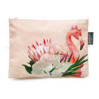 サファリポーチ Floral Flamingo