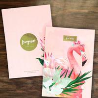 ワイルドノート(ブランク)Floral Flamingo